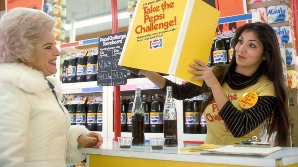 ペプシは、自社の味がコーラよりも優れていることを調査した